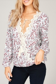 Listicle Floral Print Top - Front cropped