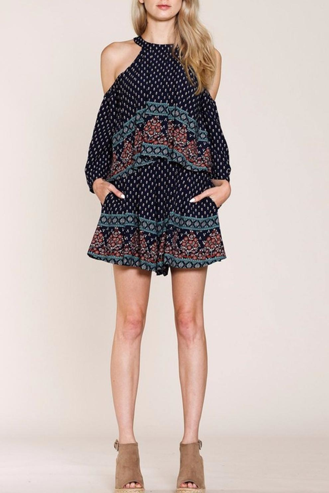 Listicle Floral Romper - Main Image