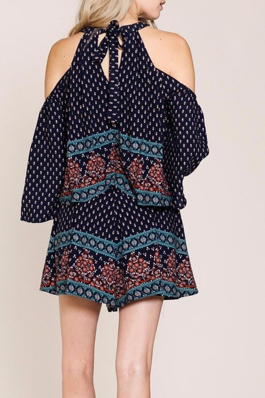 Listicle Floral Romper - Side Cropped Image