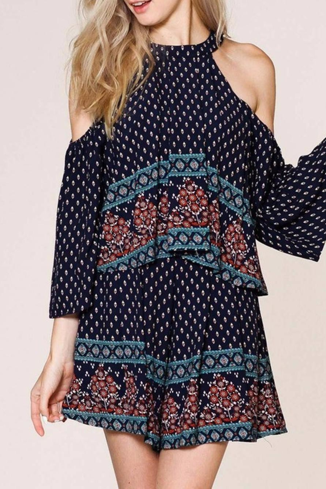 Listicle Floral Romper - Back Cropped Image