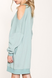 Listicle French Terry Dress - Back cropped