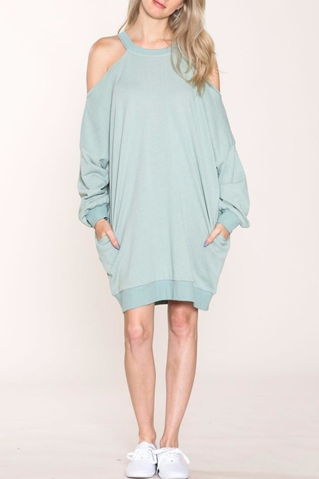 Listicle French Terry Dress - Main Image
