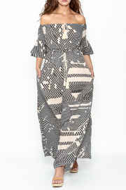 Listicle Geo Print maxi - Front cropped