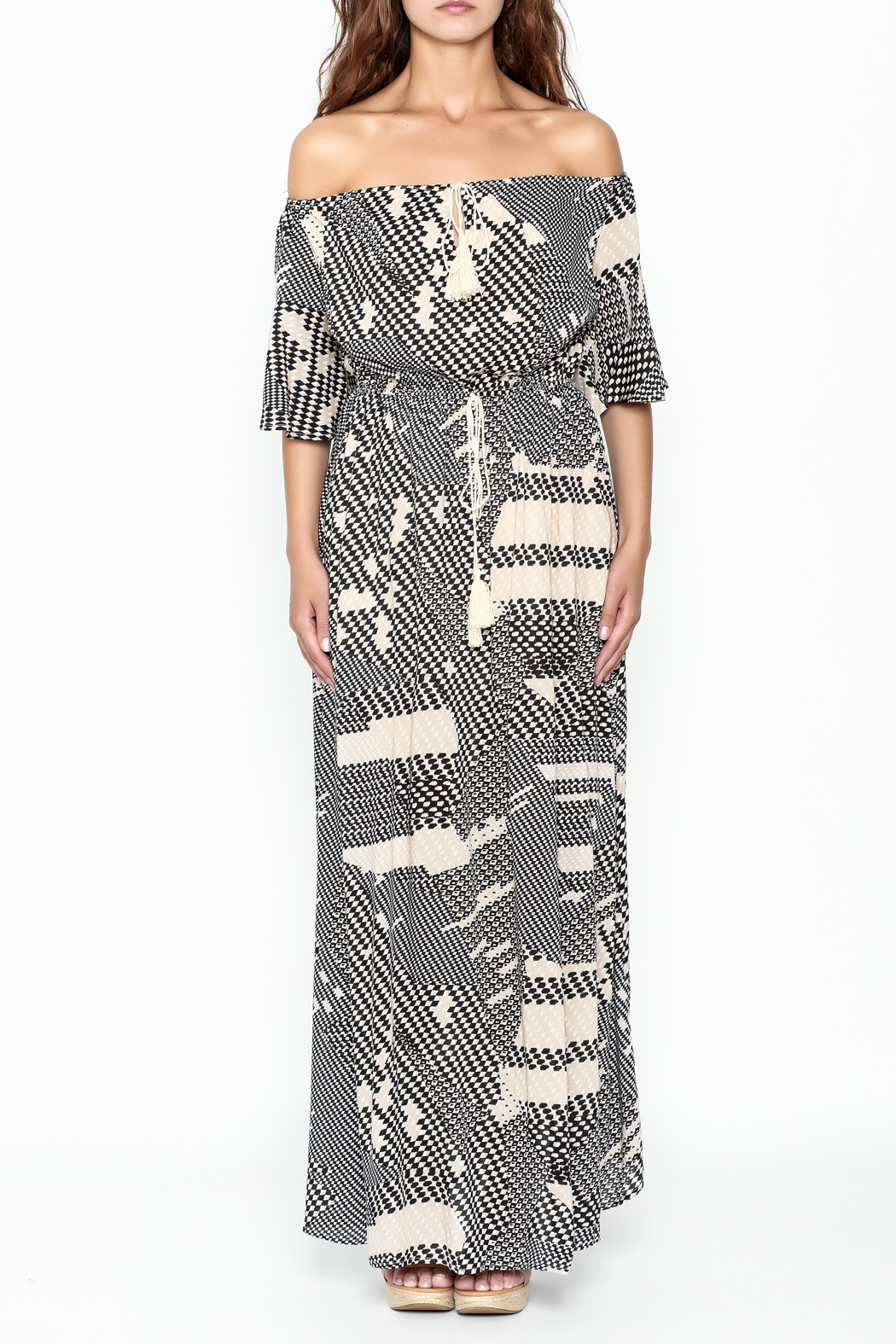 Listicle Geo Print maxi - Front Full Image