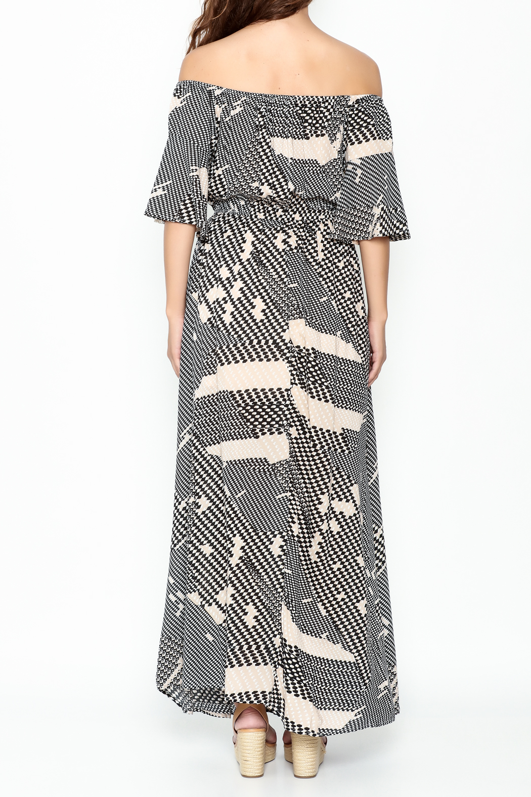 Listicle Geo Print maxi - Back Cropped Image