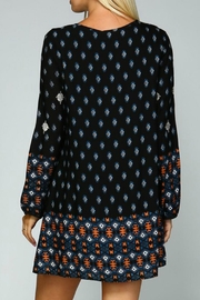 Listicle Geometric Embroidered Dress - Back cropped