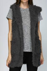 Listicle Hooded Shaggy Vest - Product Mini Image