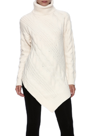 Listicle Ivory Cable Sweater - Product Mini Image