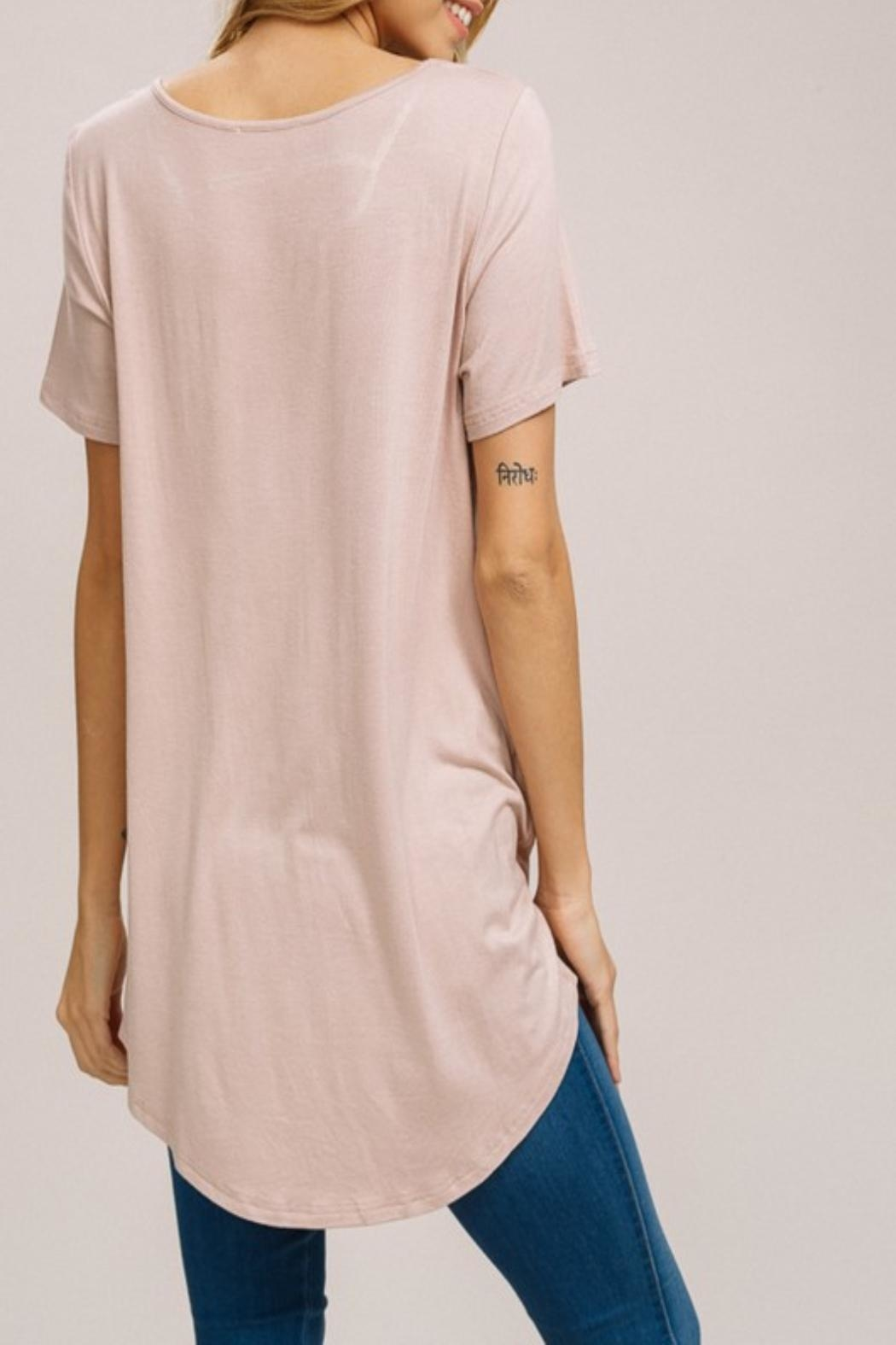 Listicle Keyhole Cutout Top - Front Full Image