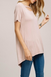 Listicle Keyhole Cutout Top - Side cropped