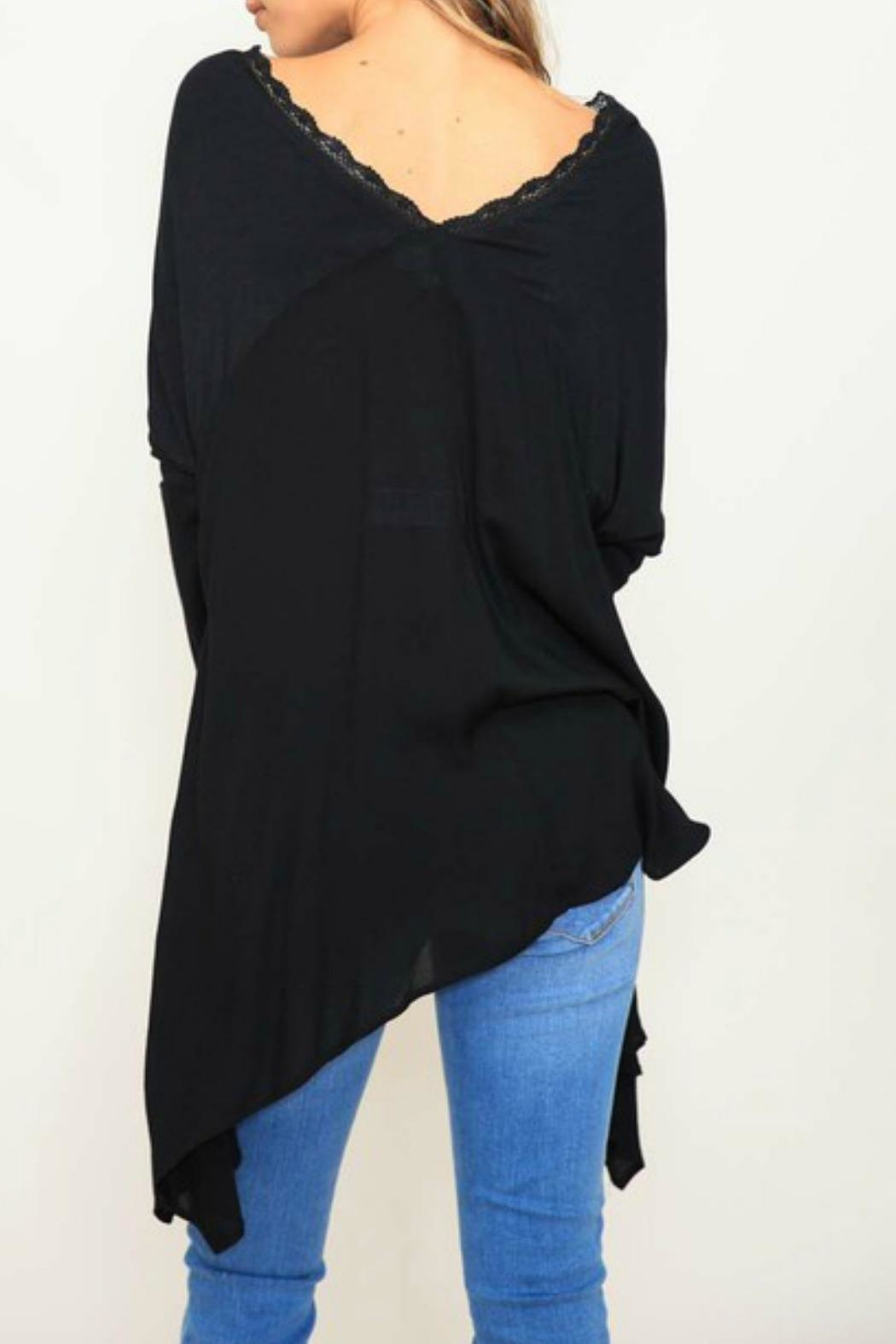 Listicle Knit Contrast Top - Front Full Image