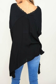 Listicle Knit Contrast Top - Front full body