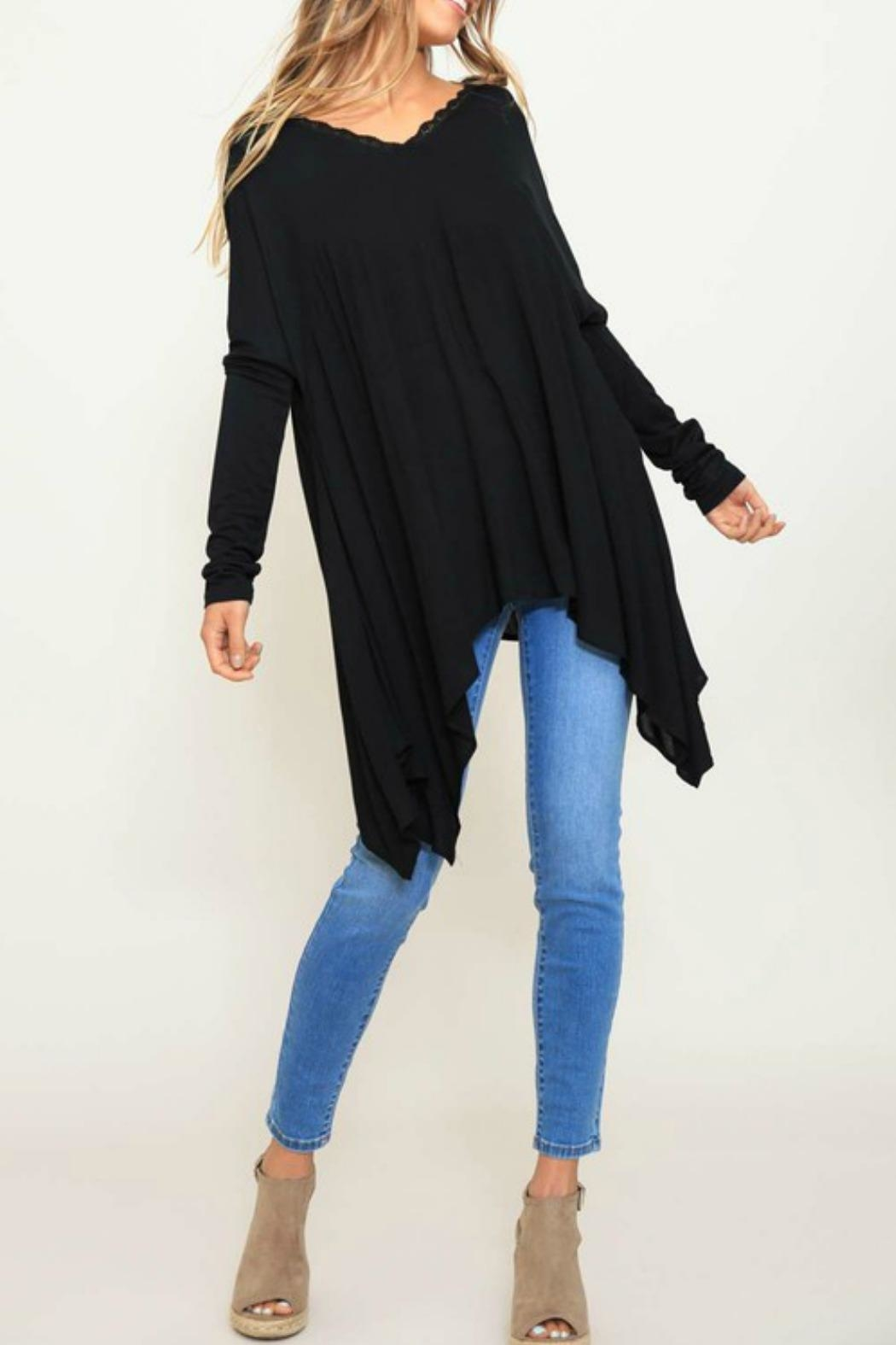 Listicle Knit Contrast Top - Main Image