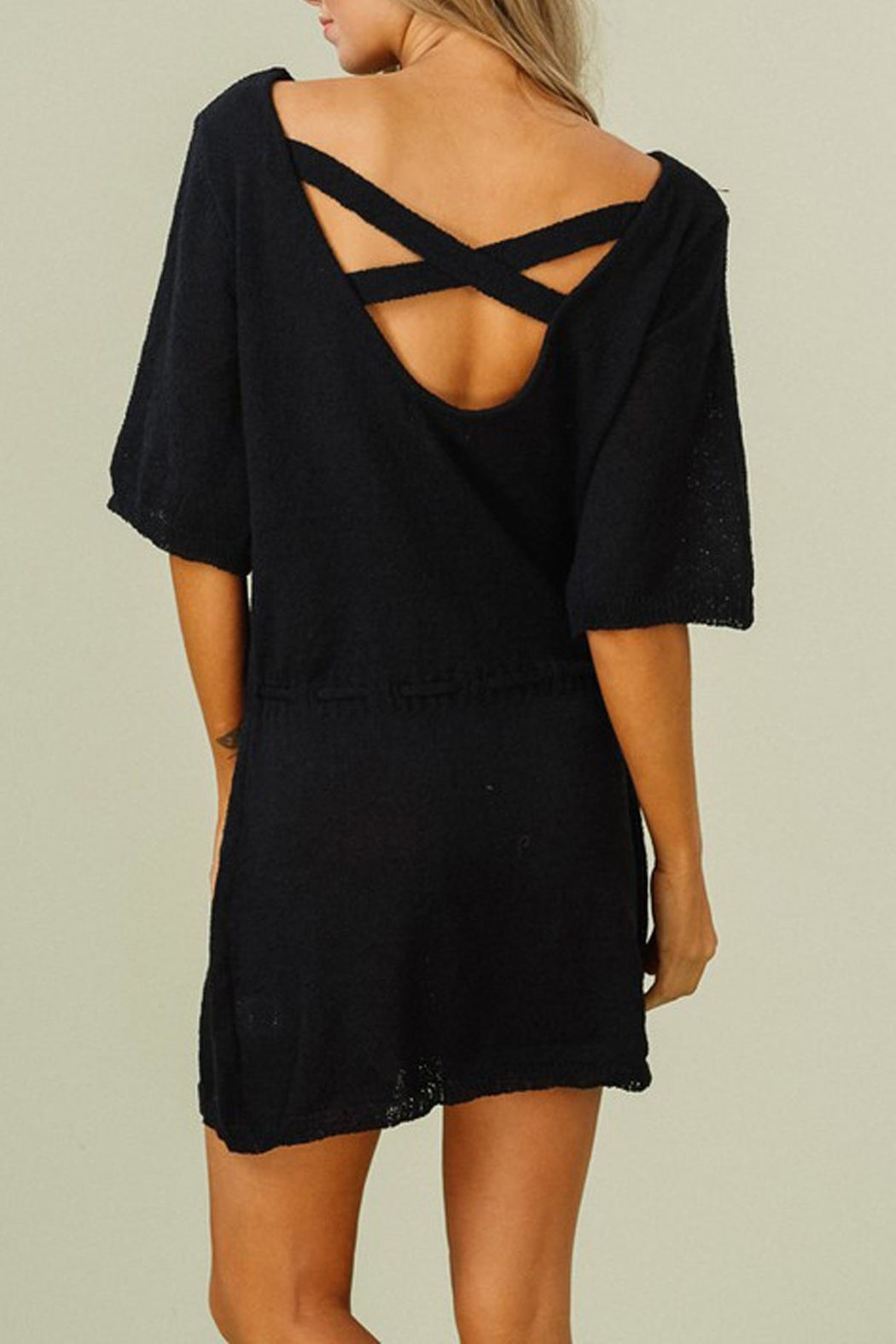 Listicle Knit Tunic Dress - Front Full Image