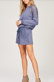 Listicle Lace Detailed Romper - Side cropped