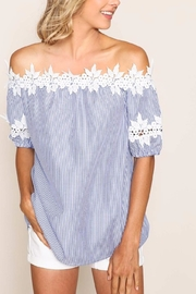 Listicle Lace Trimming Top - Front cropped