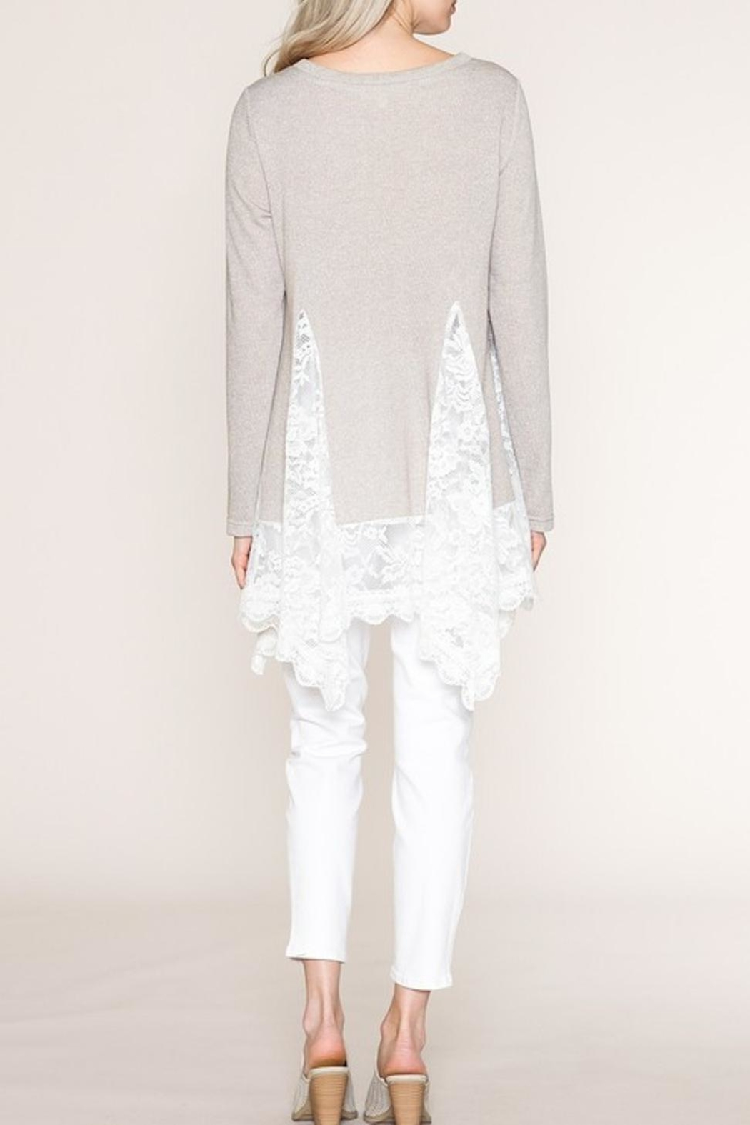 Listicle Lace Tunic - Front Full Image