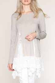 Listicle Lace Tunic - Front cropped
