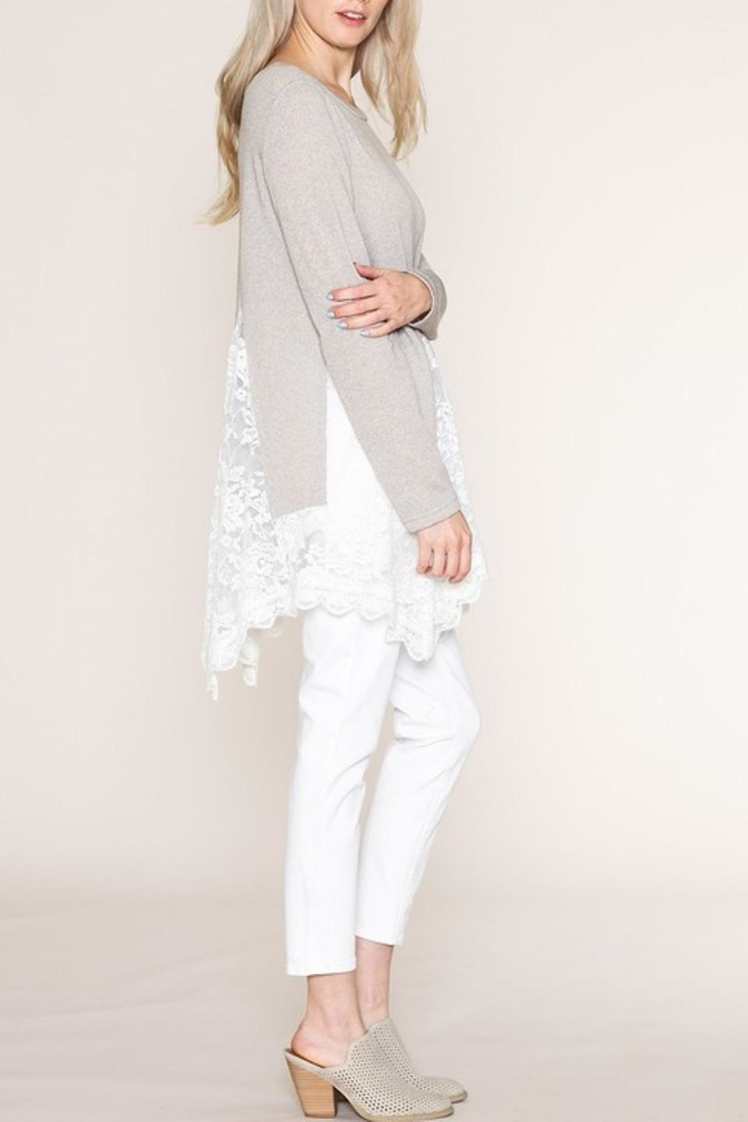 Listicle Lace Tunic - Side Cropped Image