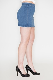 Listicle Lace-Up Denim Skirt - Front full body