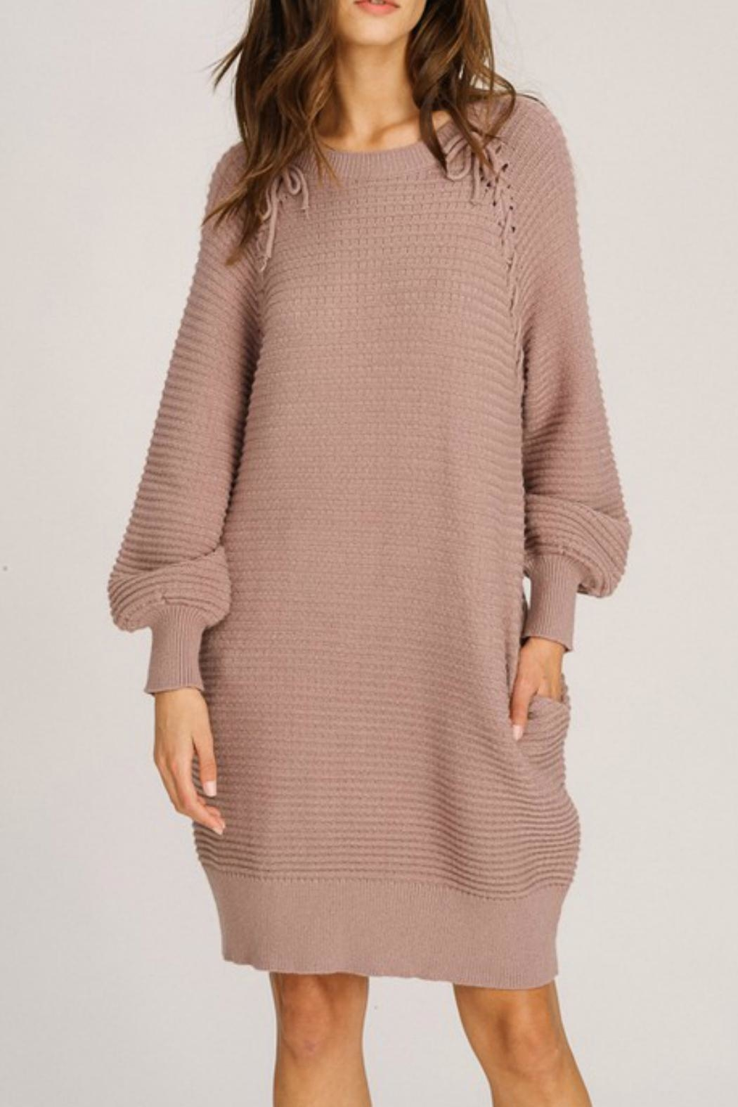 Listicle Lace-Up Detail Dress - Main Image