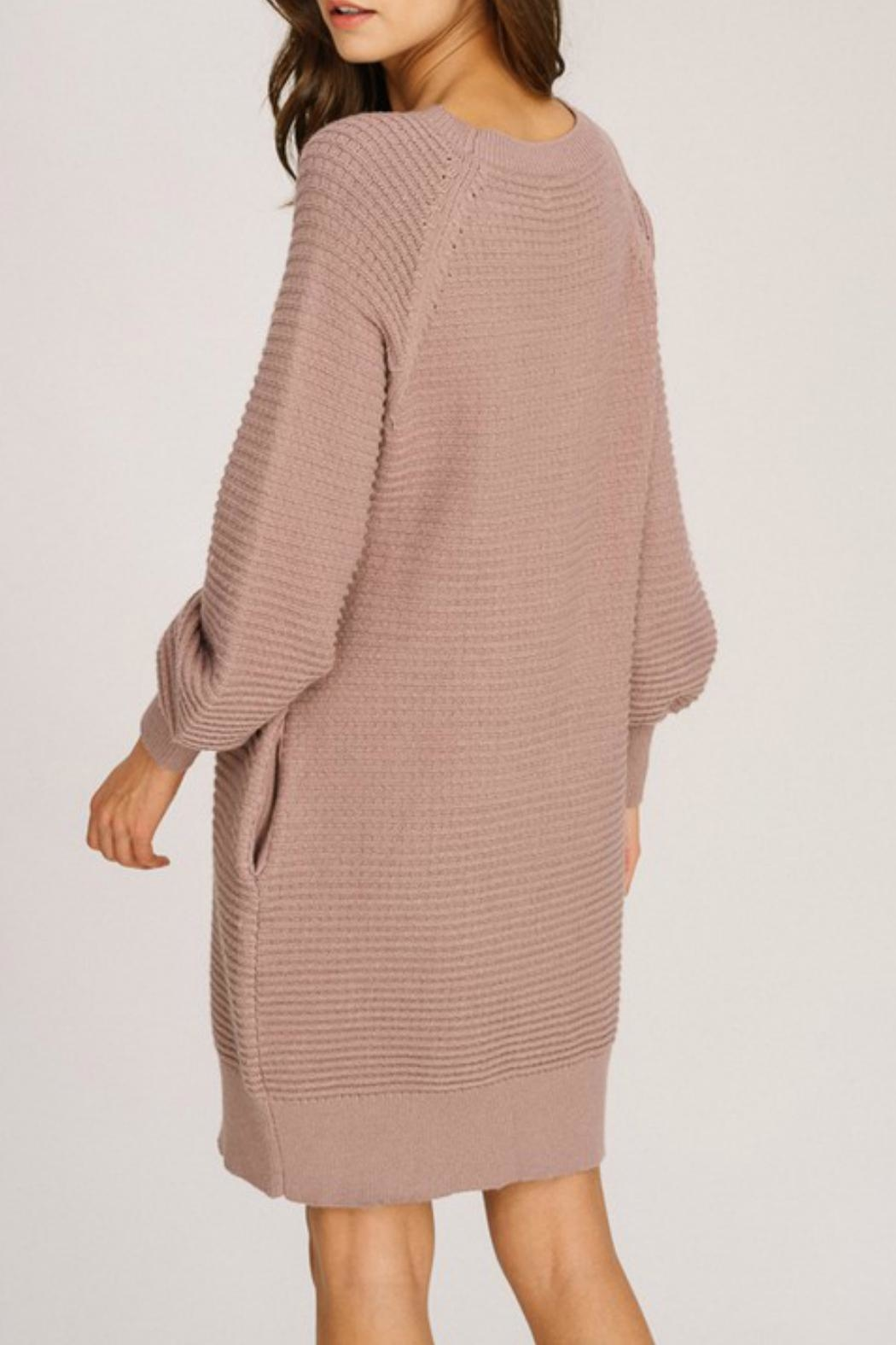 Listicle Lace-Up Detail Dress - Front Full Image