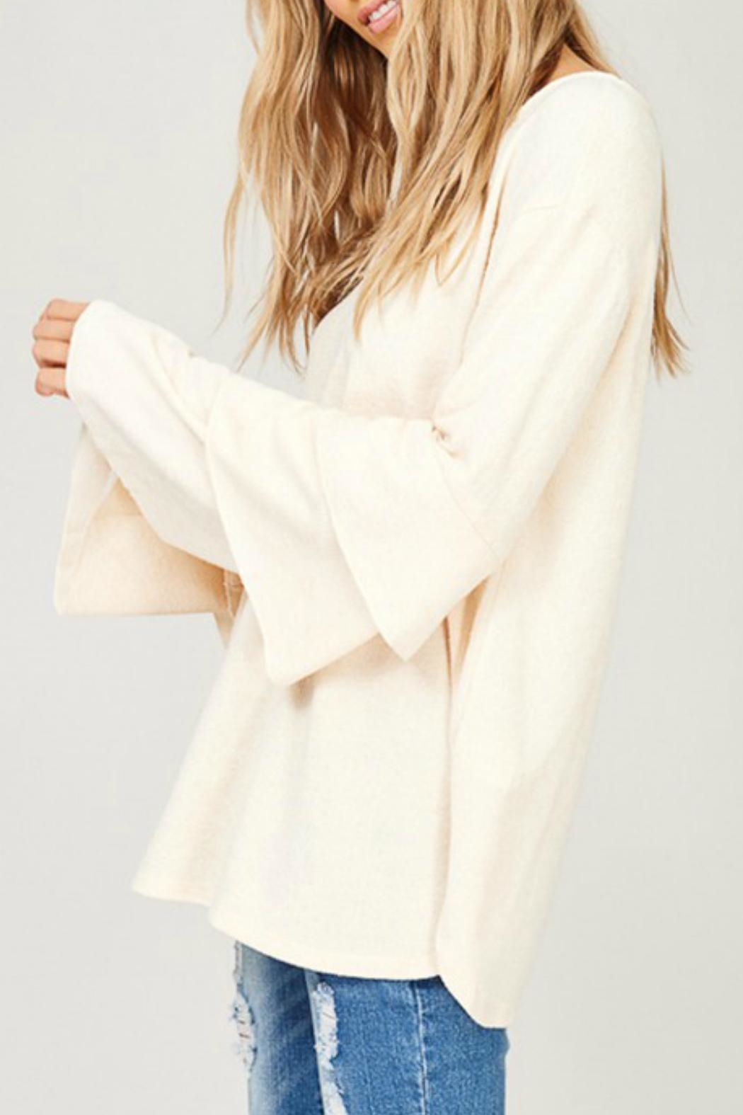 Listicle Layered Bell-Sleeve Top - Side Cropped Image