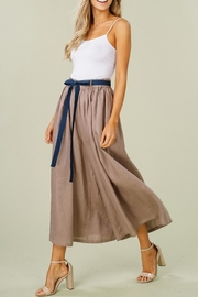 Listicle Linen Wide-Leg Culottes - Other
