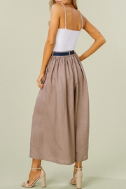Listicle Linen Wide-Leg Culottes - Back cropped