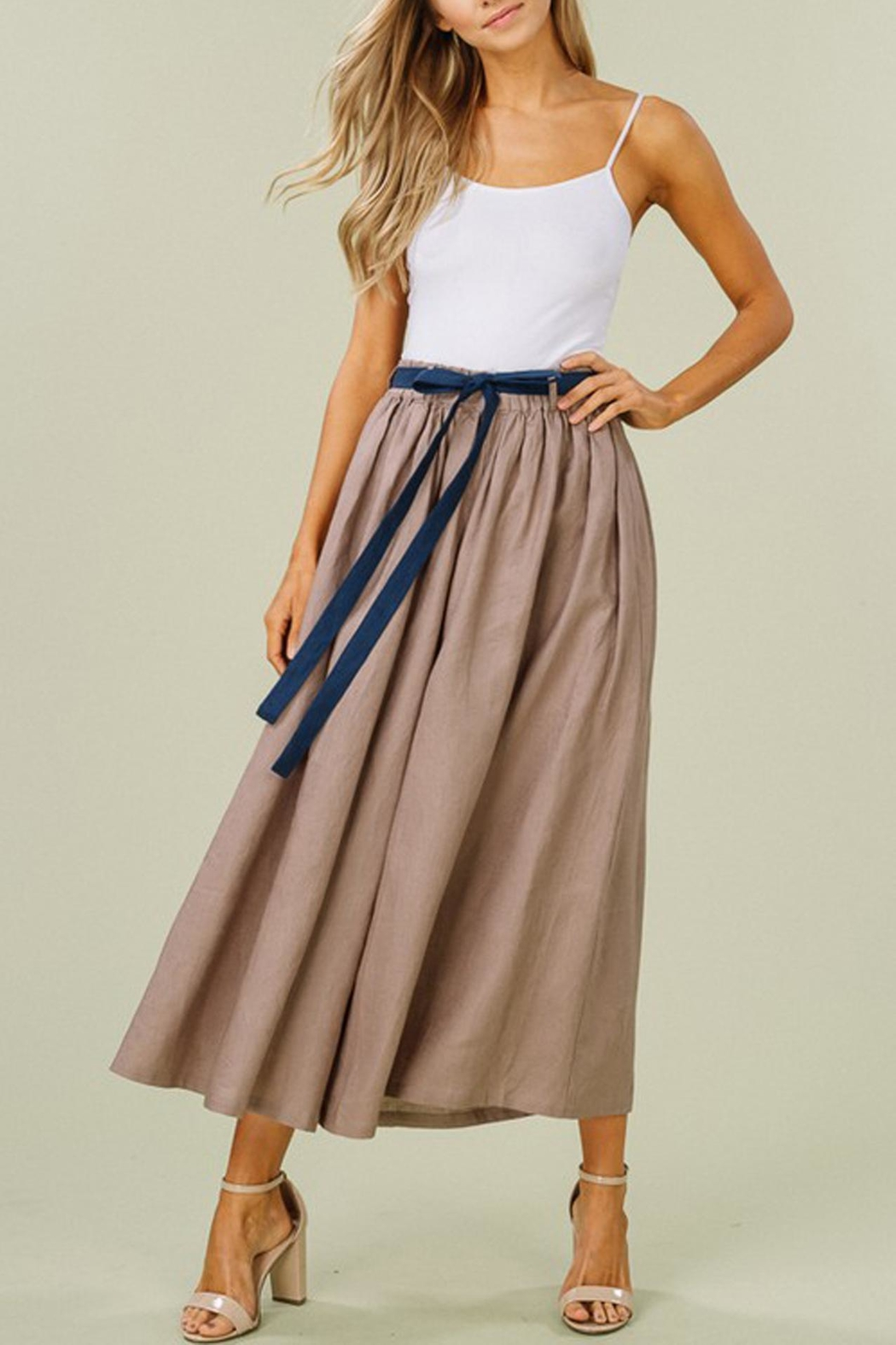 Listicle Linen Wide-Leg Culottes - Side Cropped Image