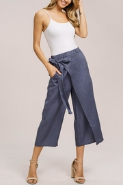Listicle Linen Wrap Culottes - Product Mini Image