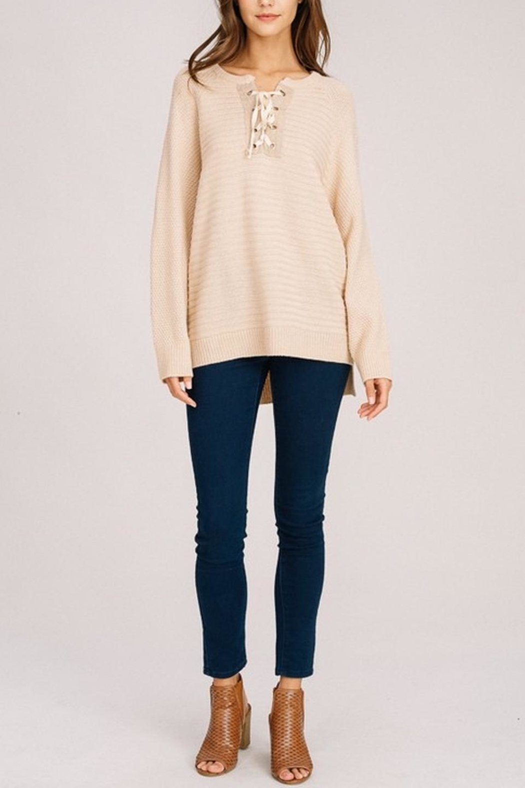 Listicle Long Pullover - Front Full Image