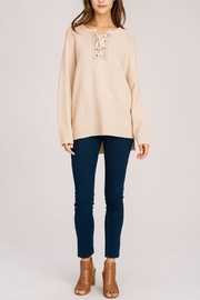 Listicle Long Pullover - Front full body