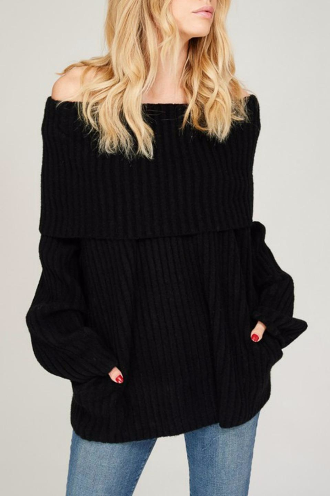 Listicle Off Shoulder Rib - Front Cropped Image