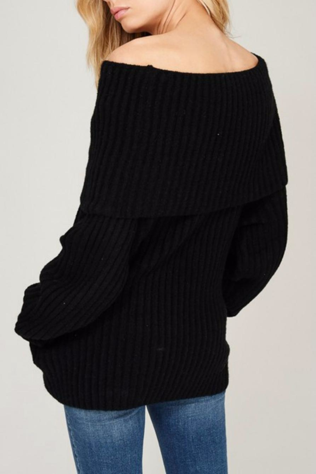 Listicle Off Shoulder Rib - Front Full Image