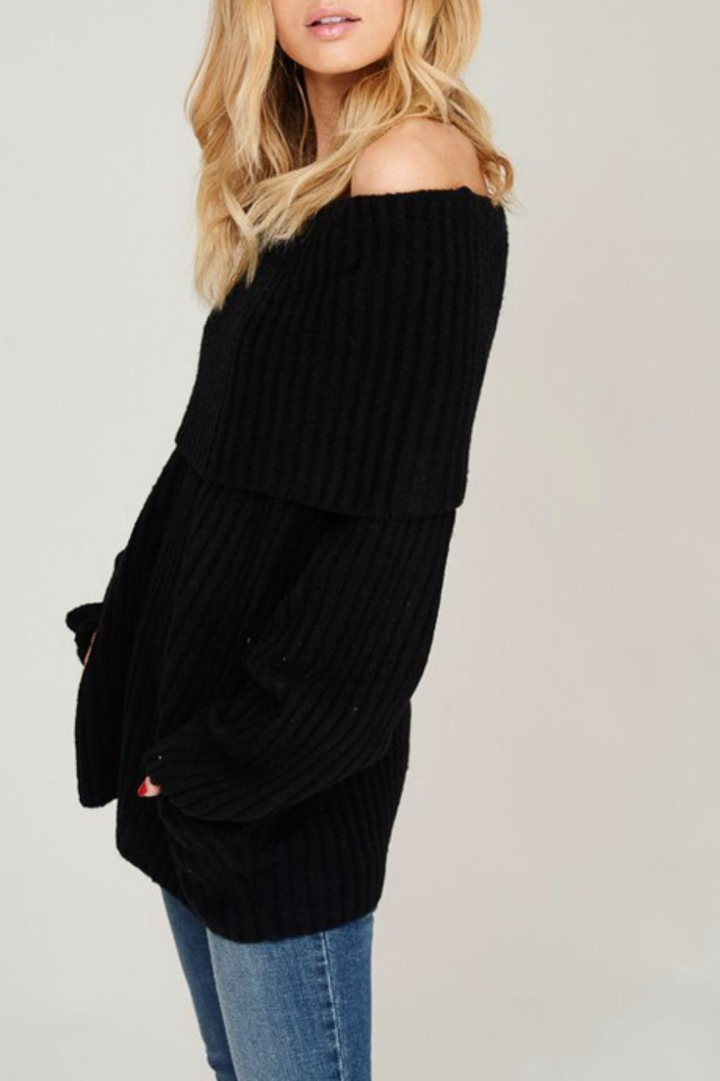 Listicle Off Shoulder Rib - Side Cropped Image