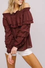 Listicle Off-Shoulder Ruffle Top - Product Mini Image