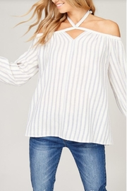 Listicle Open Shoulder Top - Front cropped