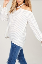 Listicle Open Shoulder Top - Front full body