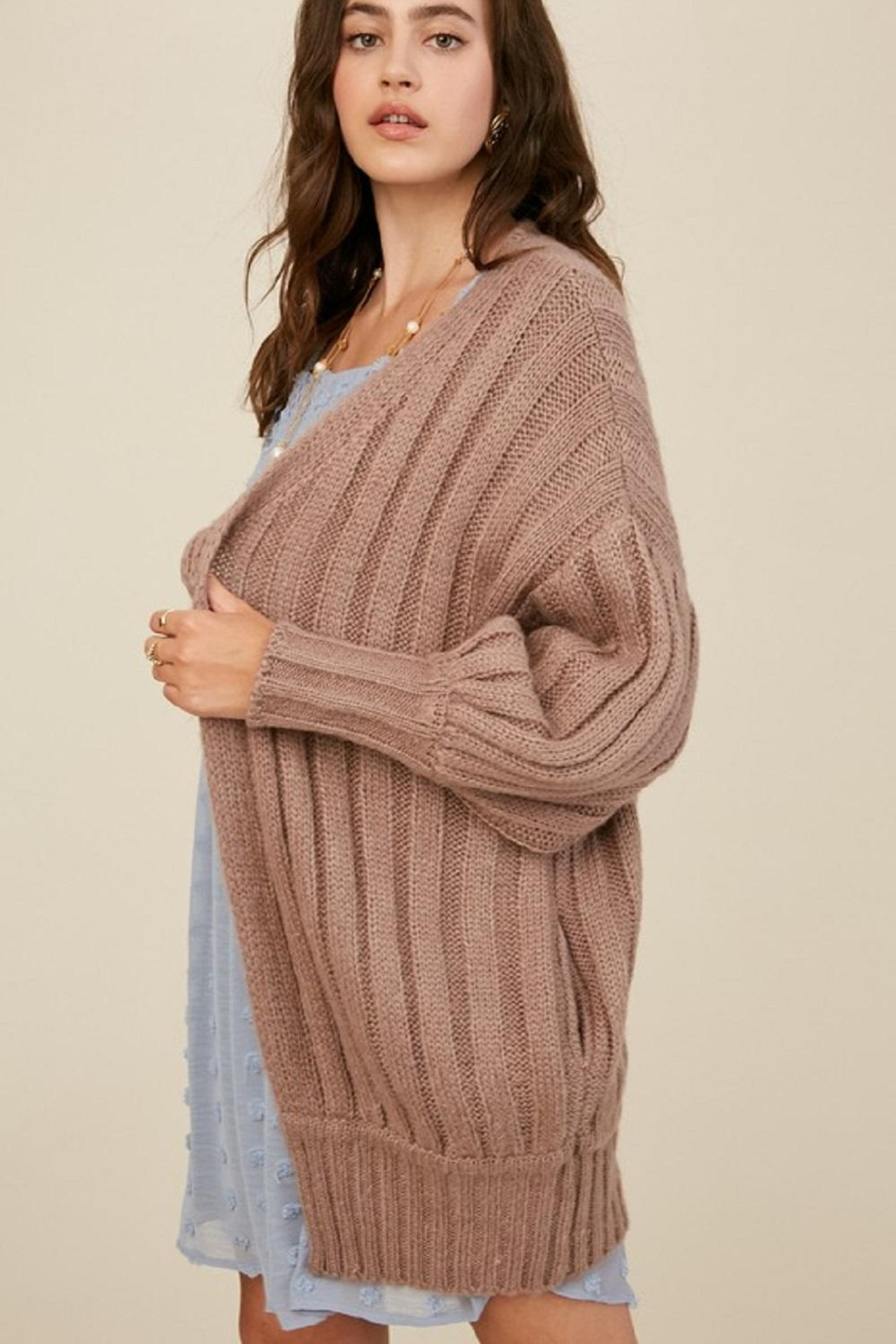 Listicle Over-Sized Dolman Cardigan - Main Image
