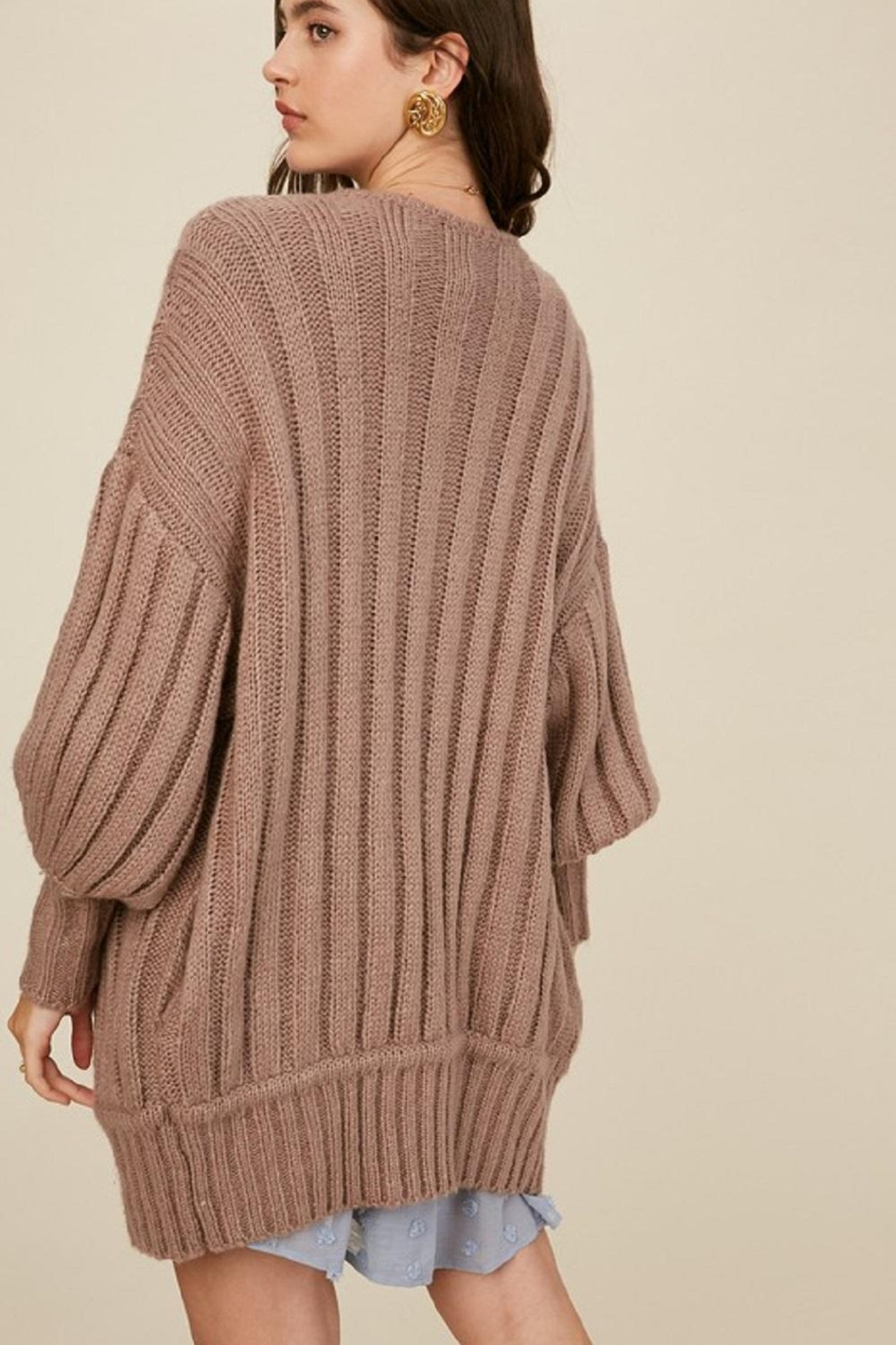 Listicle Over-Sized Dolman Cardigan - Front Full Image