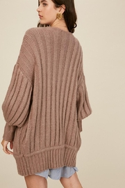 Listicle Over-Sized Dolman Cardigan - Front full body
