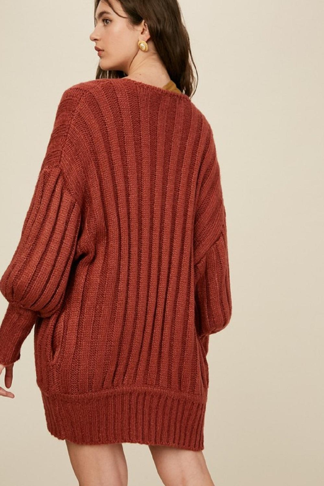 Listicle Over-Sized Dolman Sweater - Side Cropped Image