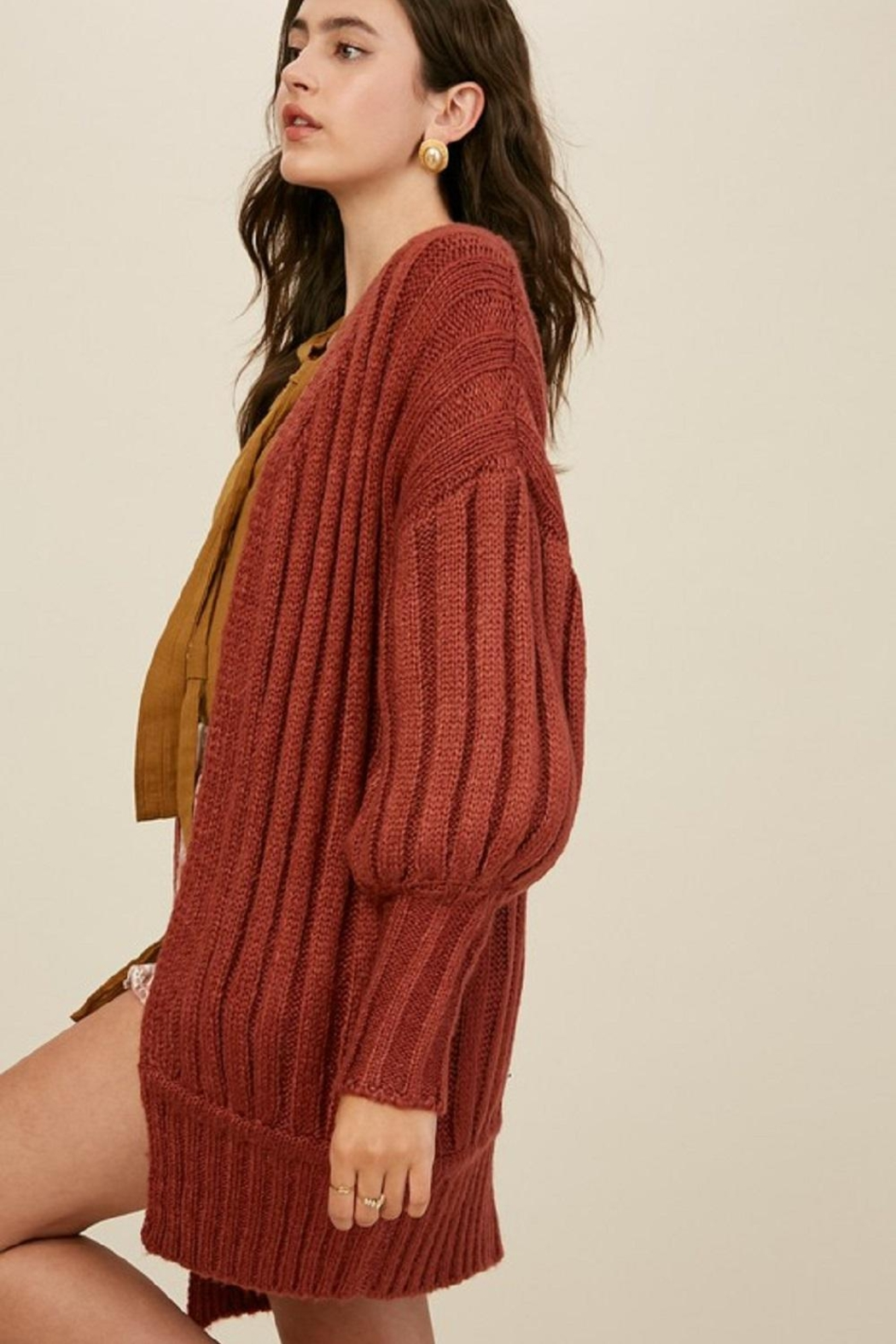 Listicle Over-Sized Dolman Sweater - Front Full Image