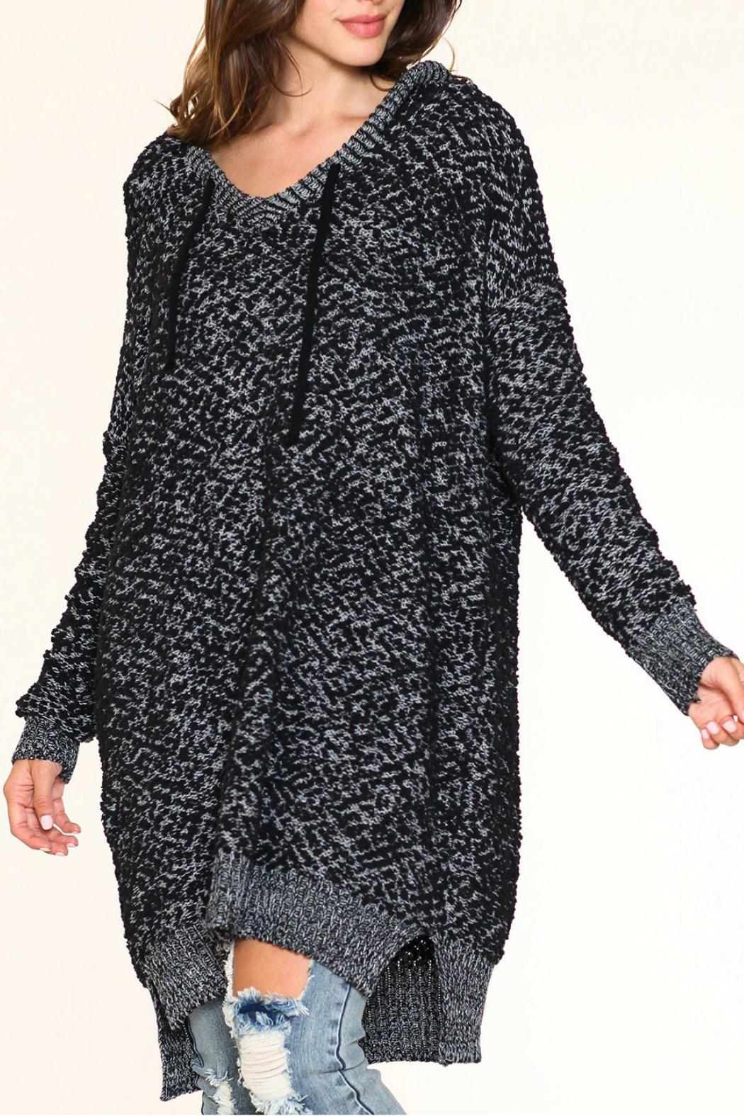 Listicle Over-Sized Knit Sweater - Main Image