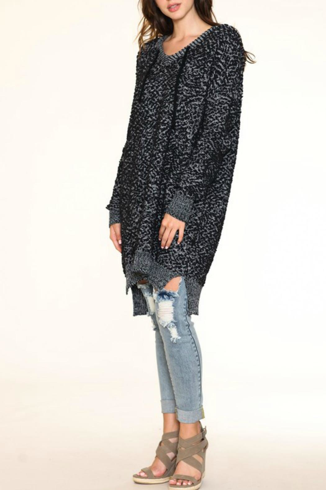 Listicle Over-Sized Knit Sweater - Front Full Image