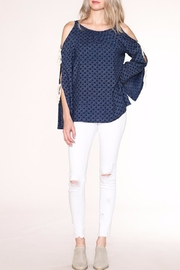 Listicle Navy Print Top - Product Mini Image