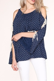 Listicle Navy Print Top - Other