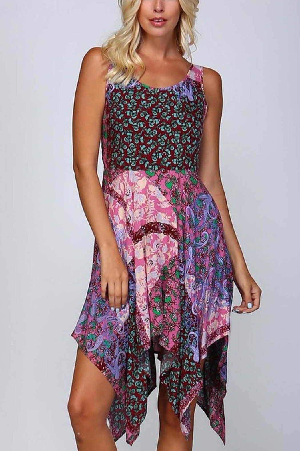 Listicle Print Waterfall Dress from Texas by Erica Rose