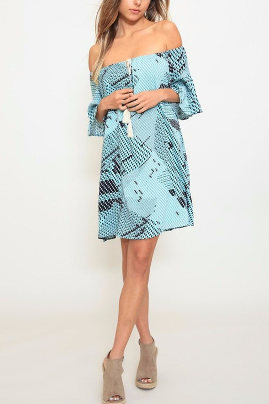 Listicle Printed A-Line Dress - Main Image